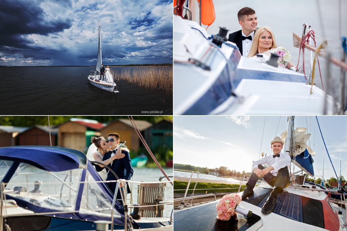 plener ślubny na żaglówce łódce statku, sesja plenerowa nad rzeką morzem, ciekawy pomysł na sesję ślubną na Mazurach, Galeria zdjęć z sesji w plenerze